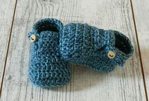 Baby shoes - ALOM / Baby shoes, crochet booties hand made by Alom