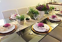 Jantar de Noivado / Como organizar um jantar de noivado de casamento. Receitas, como colocar a mesa.