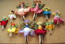 Crafting fairy pegs