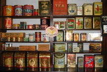 Tea Caddies / A tea caddy is a box, jar, canister, or other receptacle used to store tea. The word is believed to be derived from catty, the Chinese pound, equal to about a pound and a third avoirdupois (system of weights based on a pound of 16 ounces).