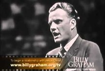 b i l l y  `  g r a h a m / In the late 50's or early 60's my dad & I went with our church group to one of his crusades. Even though I was ten or so I still have a vivid memory of the service. It was heavenly. What a choir~ oh what preaching!  I am thankful for the life this man has lived. Many have fallen by the wayside but he has has held fast to God's unfailing Hand! Thank God for this Godly man! / by Kristy Leonard