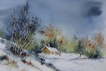 petite maison dans la neige