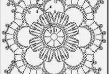 flower lace crochet square