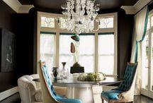 Circular Dining Room Inspiration / by Hampton Hostess CG3 Interiors-Barbara Page Home