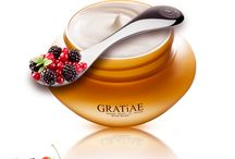 The GRATiAE Philosophy / GRATiAE—Organic Beauty by Nature— is a skin-care line with a sole purpose: anti-aging. It successfully combines Gratiae's thermal spring water with its exclusive minerals, flora native only to the Sea of Galilee area, and organic plants.     The GRATiAE line caters to both women and men who appreciate natural, organic, and healthy skin-care products. GRATiAE delivers results of unparalleled luxury.       Welcome to the world of GRATiAE —The world of The Three Graces