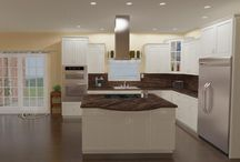 3D Renderings / These are computer generated photos of what the kitchen could look like in the floor plans we have shown on our website.   Visit https://www.excelhomes.com/floorplans/listings to see the plans for these homes.