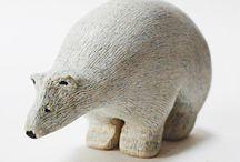 keramická zvířátka