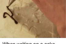 BAKEING / Writeing on a cake / by Terri Harding