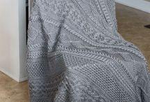 Grijze deken / Kabel deken