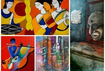 Indian Art Online / The board is aimed at highlighting the beauty of Indian art - Contemporary as well as modern and showcasing the talent of Indian artists across the globe. Be it figuratives, or abstracts or landscapes all the works find a place onto this board.