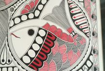 Madhubani Paintings / Dedicated to a few paintings made by me