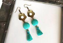 Beautiful beaded earrings / fashion earrings, beaded earrings, nice gift for mom, gift for girlfriend,  bohemian earrings, Statement earrings