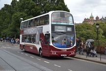 X European City Buses (3) / Modern European City Duty Double Deck Buses.