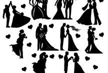 esküvői sziluettek