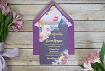 Watercolor and Foil Invitations