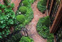 внутренние дворики/мини сад