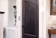 Traditional Southern Style with a Twist / TruStile Custom Doors made in both solid Walnut and paint-grade MDF with Low Profile Moulding and Raised (A) Panel