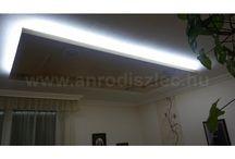 Hidegfehér rejtett világítás / A hidegfehér fények nagyon modern megjelenést kölcsönöznek az enteriőrnek, de ugyanúgy alkalmasak hangulatvilágításhoz akár a melegfehér vagy a természetes fehér társai.   LED szalagok nappalik és hálószobák felturbózásához., sok-sok típusban és számos referenciafotóval is megvásárolható a webáruházban: http://www.anrodiszlec.hu/index.php/cPath/68_85