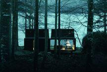Exclusiva VIP / Esta casa sobre pilotes, situada a orillas del lago, se encuentra diseñada a partir de colores oscuros con el fín de transmitir la sensación de frío que forma, junto con el entorno, un aspecto lúgubre y único.