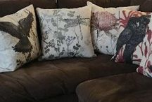 Cushions / My work is directly related to my passion for nature. I support the need to protect the environment by recycling all I can in the studio and using non-toxic forms of art making. My designer cushions, a transference of my art to fabric... all hand crafted in Australia with the finest materials.