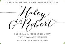 Wedding Invite Inspiration / Beautiful wedding invitation inspiration for the big day.