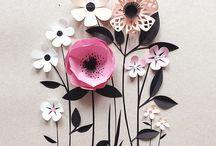 Бумага цветы