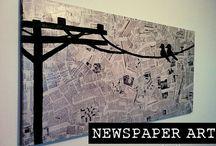 Alkotás újságpapírból