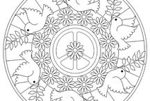 peace coloring