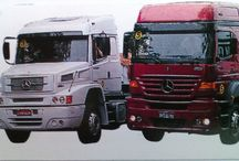 T MERCEDES BENZ TRUCKS (Brazil) / Trucks of the German brand MERCEDES BENZ,with some model series,exclusively of the Brazilian Market.