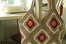 crocheted & knitted bags