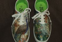 Lovely Shoes / As well as decorating items for the home (Your Lovely Home), I love to individually decorate canvas shoes and wicker bags