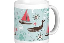 Nautical and Ocean / Nautical and ocean theme items for the home, office, and personal use including electronic device sleeves and cases,serving trays,bathroom sets, wallets, blankets, pillows, bags, and much more!