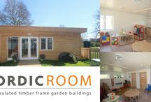 Larger Buildings / Previews Nordic Wood Projects. Class Rooms,Granny Annex, Sport pavillion, residential homes, Holiday Lets ect