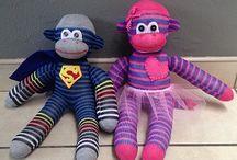 Snuggle Bug Godies / Sock Animals. sock Lions, Elephants, Monkeys and Birds.