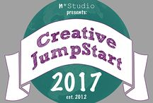 """Creative Jumpstart 2017 / CJS is a one-of-a-kind community event to jump start your creativity in 2017. The Theme is """"Mix, Match, and Master"""". Learn from different 27 Mixed Media Artists and Crafters how they translate this theme into their own work, sharing with you their creative process, techniques, tips, tricks, ideas on how to develop your own style. http://nathaliesstudio.com/learn/online-workshops/creative-jumpstart-2017/"""