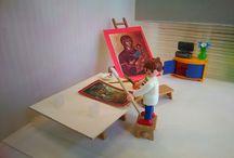 playmobil art conservation, custom, dioramas / Διόραμα με playmobil, custom, dioramas playmobil