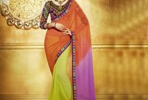 Buy Designer Party Wear Sarees / Jugniji.com : A huge sparkling collection of Indian ethnic wear in our attention-grabbing online showroom whose variety is growing every month. price $97.00 ## http://goo.gl/2nFTy5