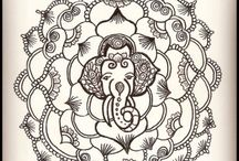 Tattoo Designs - Mandala & Flower Tattoos Henna Tattoos / ** If you would like to have one of these designs tattooed, that is great - send me a photo when it is done - I would love to check it out kelly@kellycaroline.com - Tattoo Designs by Kelly Caroline Henna Artist - Leaf tattoos, mandala tattoos, flower tattoos, elephant tattoos, floral tattoos