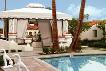 Avalon Palm Springs-Ceremony Magazine Styled Shoot / Blush, copper, white and black.  Edgy and elegant.