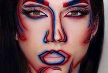 Pop-art make-up