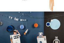 Astronaute Party - Space Party / Idées et inspirations pour un anniversaire autour de l'espace, des astronautes, des astres et des planètes.