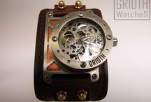 the I-RON by GRIOTH, Steampunk Industrial watch / The last Grioth I-RON no002. for special order. Finishing: brushed copper / Ostatni model I-RON numer 002 na specjalne zamówienie. Wykończenie detali: miedź.