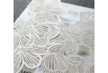 Laser Cut Wedding Invitations / A collection of our striking, intricate laser cut invites