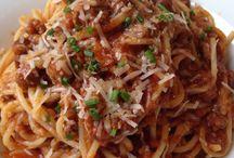 Lunch/Oběd / Můj Dnešní Italskej Oběd Špagety Alla Bolognese/My Today's Italian Lunch Spaghetti Alla Bolognese