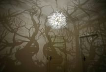 Forms in Nature - shadow chandelier / The chandelier Forms In Nature turns any room into a wild forest made of oversized shadows.