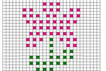 Crochet bobble stitch charts