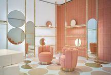 Pink tone interiors