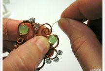 Biżuteria drut miedziany