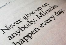 Miracles and sayings!