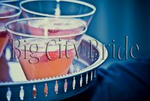 Signature Cocktails. / Signature Cocktails | Big City Bride provides custom wedding planning for each client. We are the decorating experts and have new ideas for each couple based on their style! We love helping our bride and groom concoct a signature drink for all their guests to enjoy.